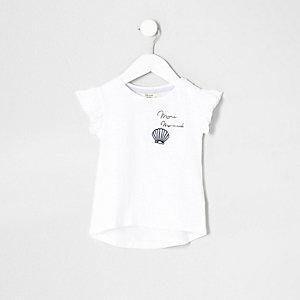 """T-Shirt mit """"Mermaid""""-Print und Tasche"""