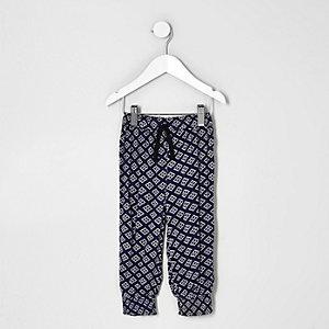 Pantalon de jogging à imprimé géométrique mini fille