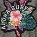 Girls black mesh 'aloha surf' mesh sweatshirt