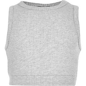 Gemêleerd grijze crop top voor meisjes