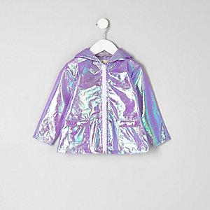 Mini - Paars reflecterend regenjack voor meisjes