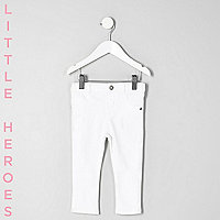 Molly – Jean skinny blanc déchiré mini fille
