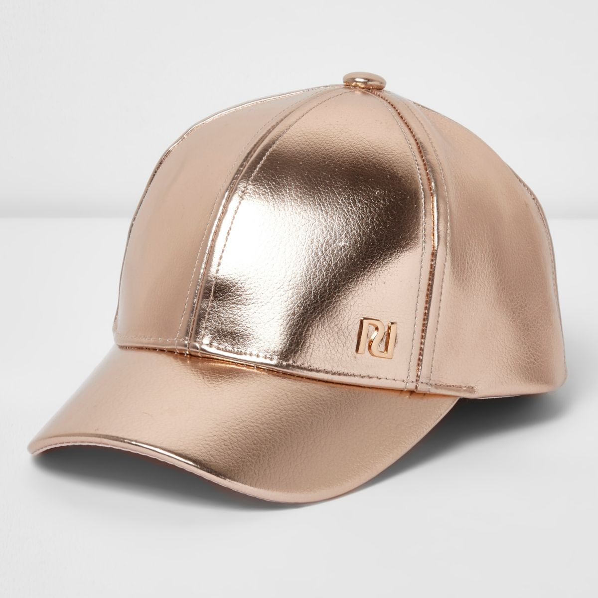 Girls pink rose gold cap