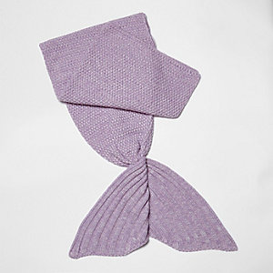 Girls purple mermaid blanket