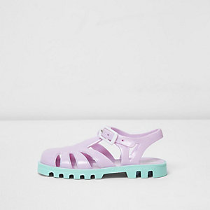 Mini girls purple jelly shoes
