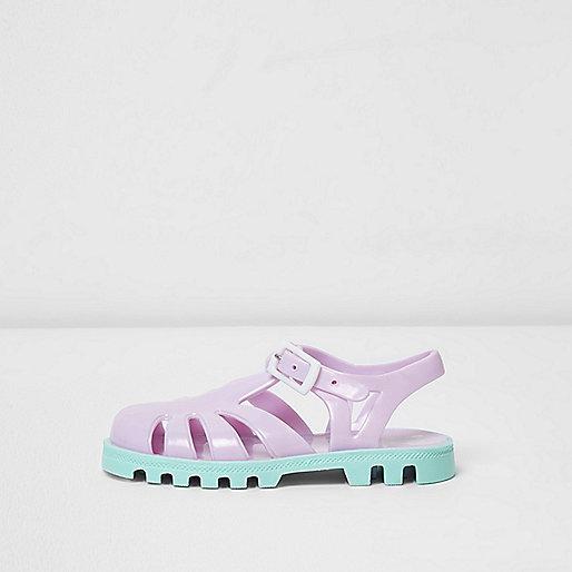 Mini girls purple jelly shoes