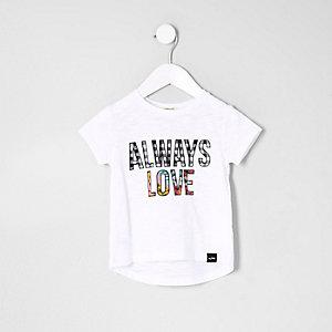 """Weißes T-Shirt """"Always Love"""""""