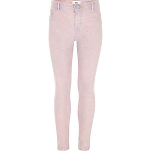 Girls purple Molly pink overdye jeggings
