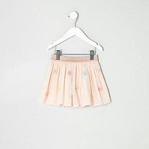 Mini - Crème mesh tutu-rokje met rondjes van lovertjes voor meisjes