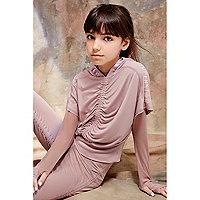 Girls pink RI Studio cropped hoodie