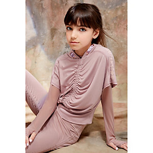 RI Studio - Roze cropped hoodie voor meisjes