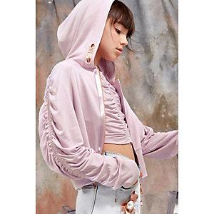 RI Studio - Paarse hoodie met rits aan de voorkant voor meisjes