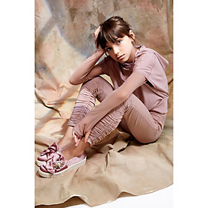 Girls pink RI Studio ruched leggings