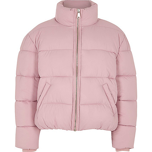 Girls light purple puffer jacket