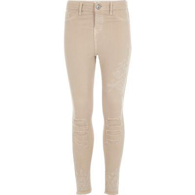 Amelie Beige superskinny jeans voor meisjes
