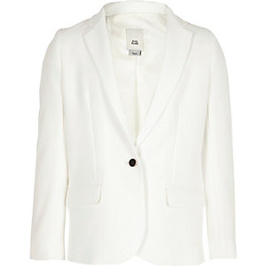 Witte blazer met lange mouwen voor meisjes