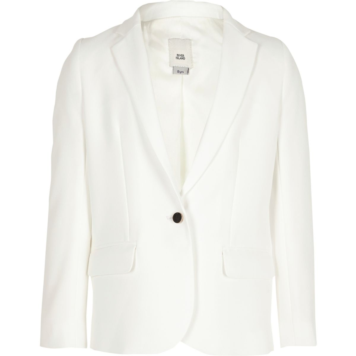 Girls white long sleeve blazer