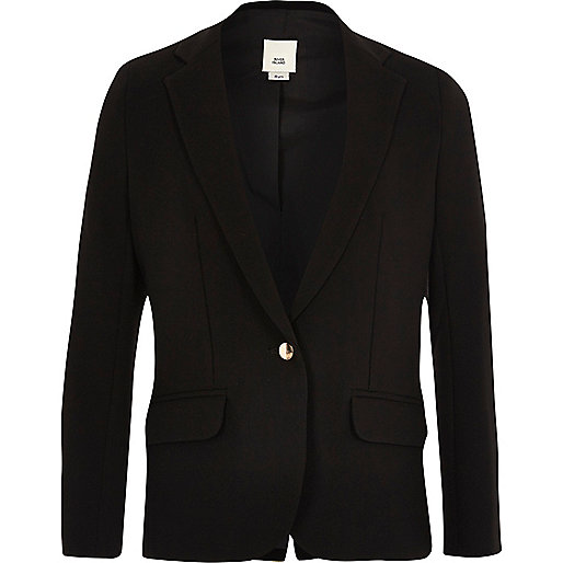 Girls black slouch blazer