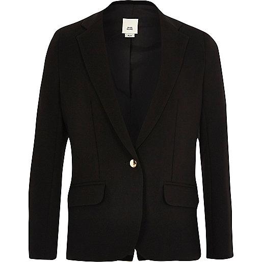 Girls black slouch blazer