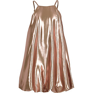 Girls RI Studio pink metallic cami dress