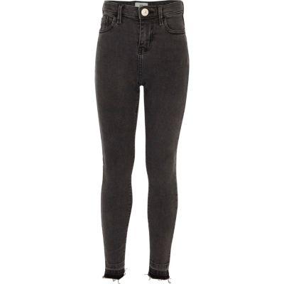 Amelie Zwarte ripped superskinny jeans voor meisjes