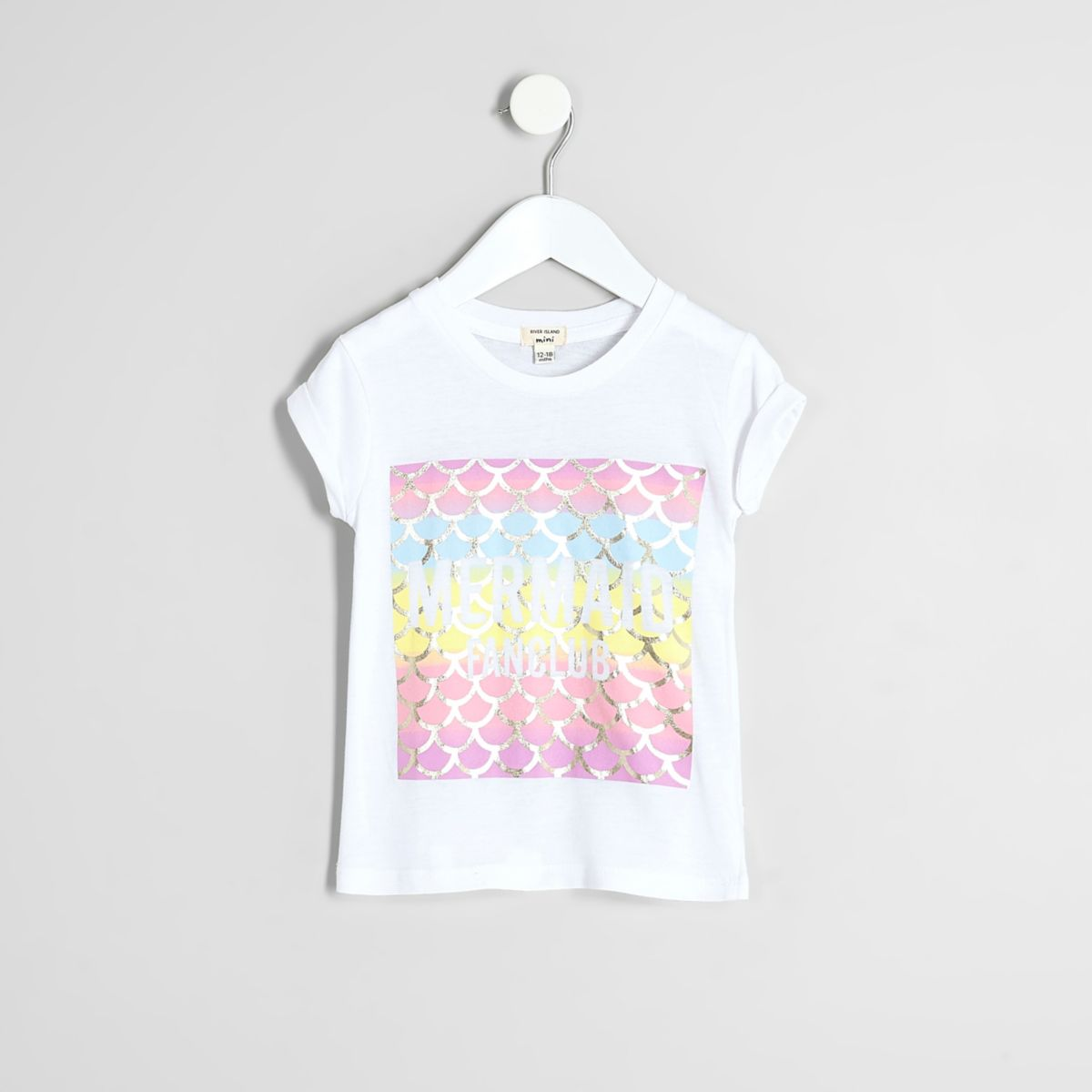 Mini girls white 'mermaid fanclub' T-shirt