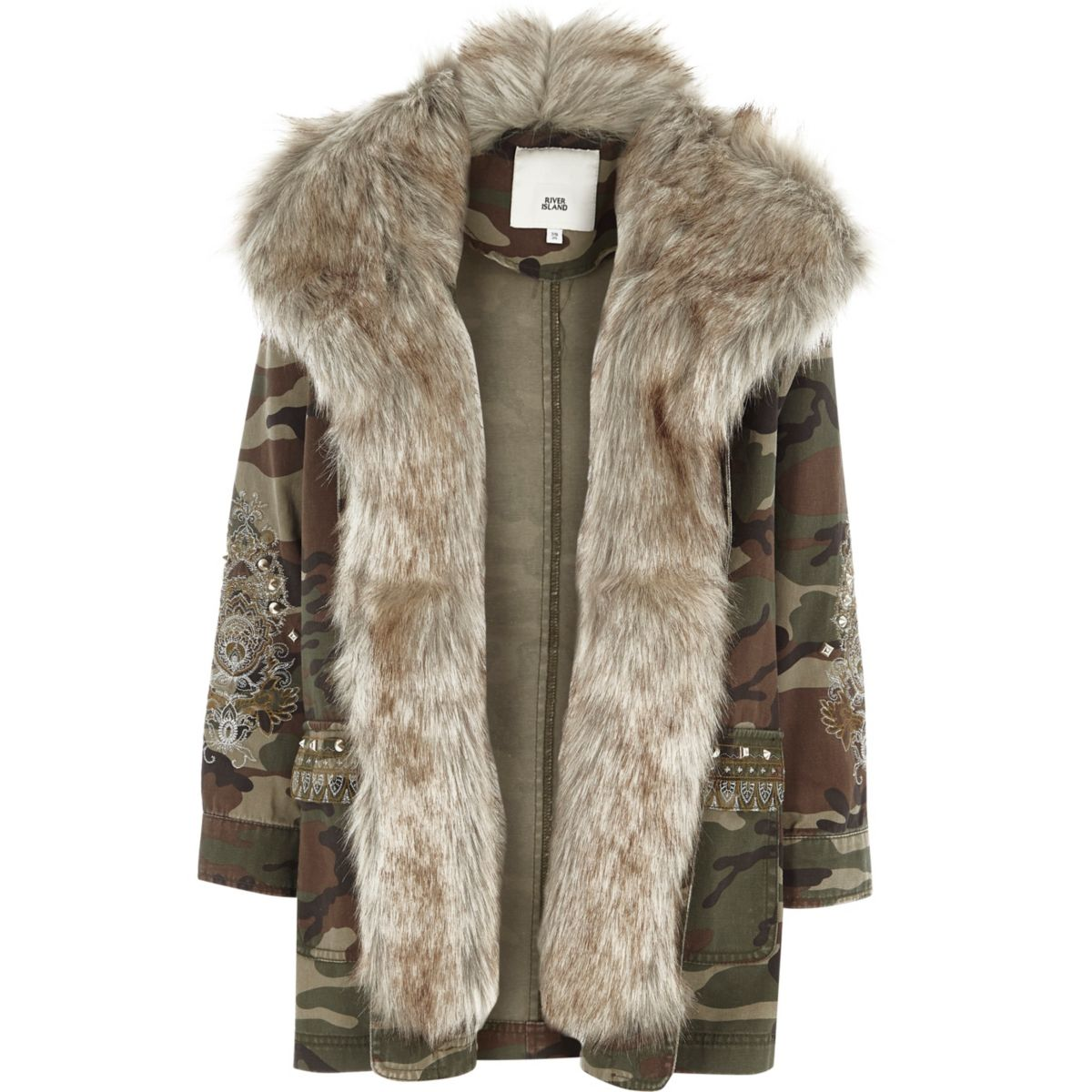 Girls Faux Fur Jacket