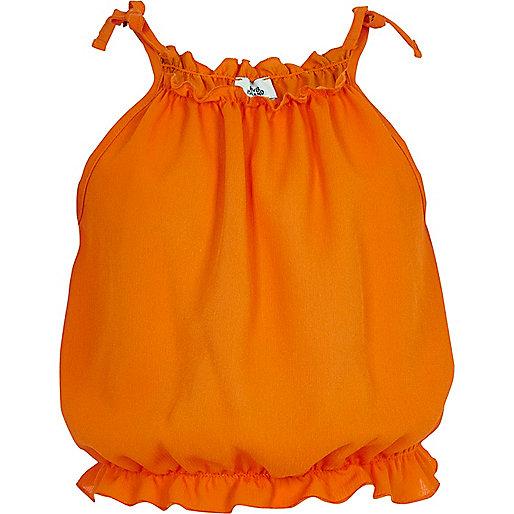 Girls orange cami sleeveless top