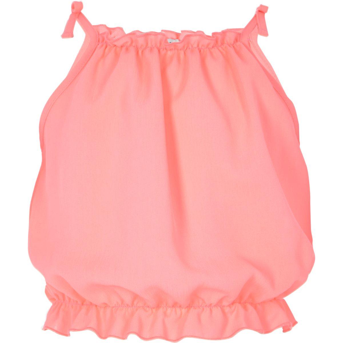 Girls pink bow shoulder cami top