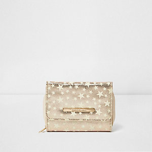 Girls gold glow in the dark trifold purse