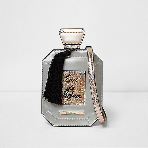 Girls metallic perfume tassel crossbody bag