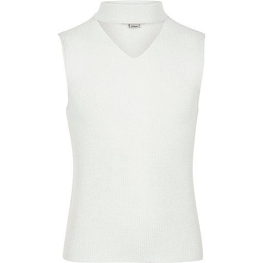Girls knit sleeveless choker top