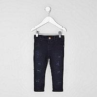 Mini girls dark blue Molly skinny jeans