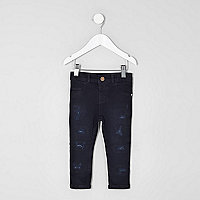 Mini girls dark blue Molly skinny jeans
