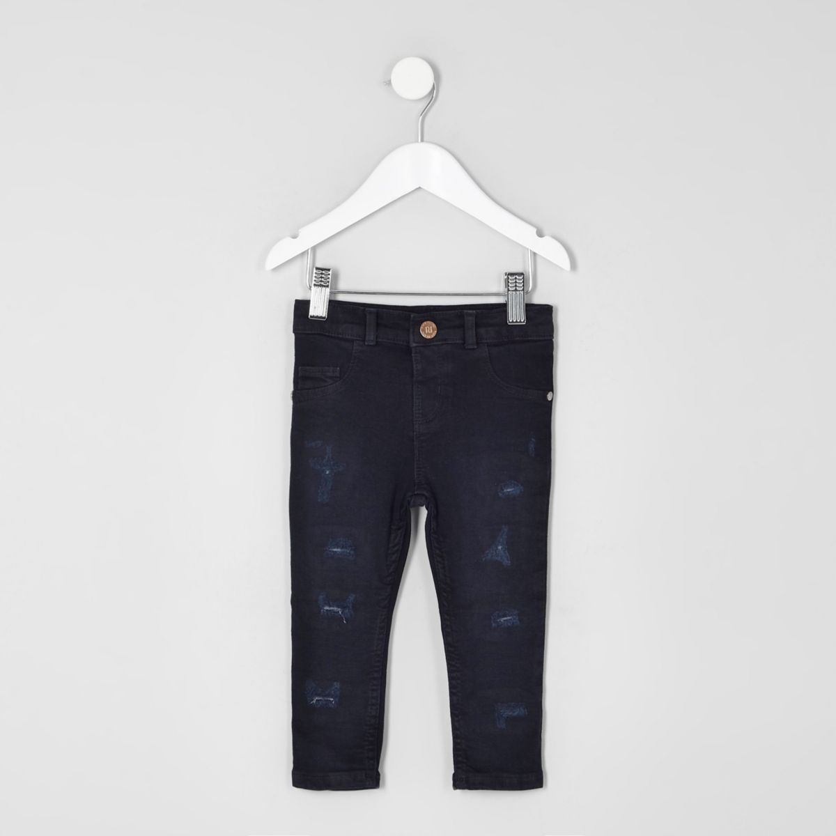 Mini - Molly - Donkerblauwe skinny jeans voor meisjes
