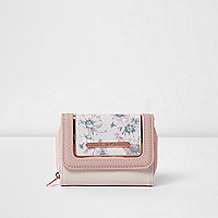 Girls pink floral print purse
