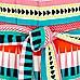 Girls red geo stripe sleeveless jumpsuit