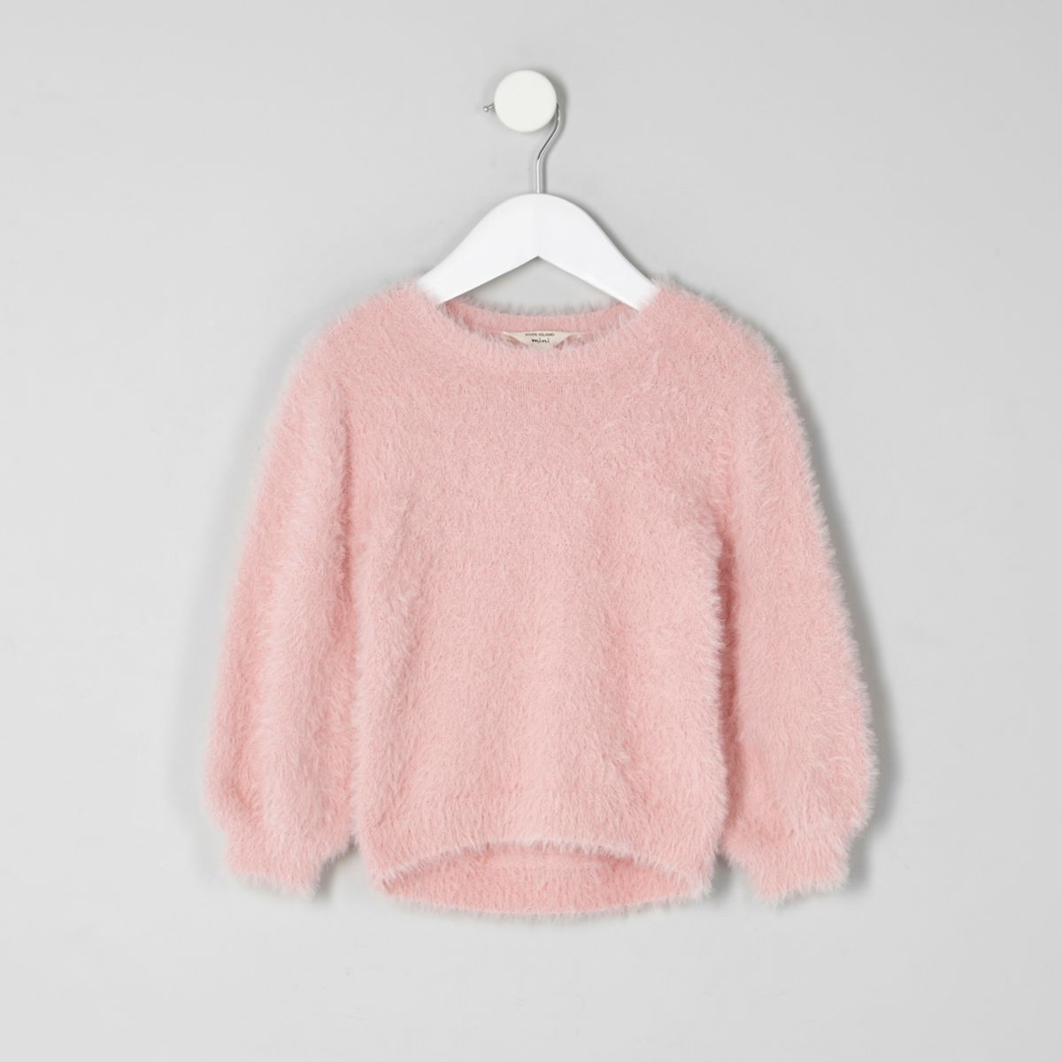 Mini girls light pink fluffy jumper - Baby Girls Tops - Mini Girls ...
