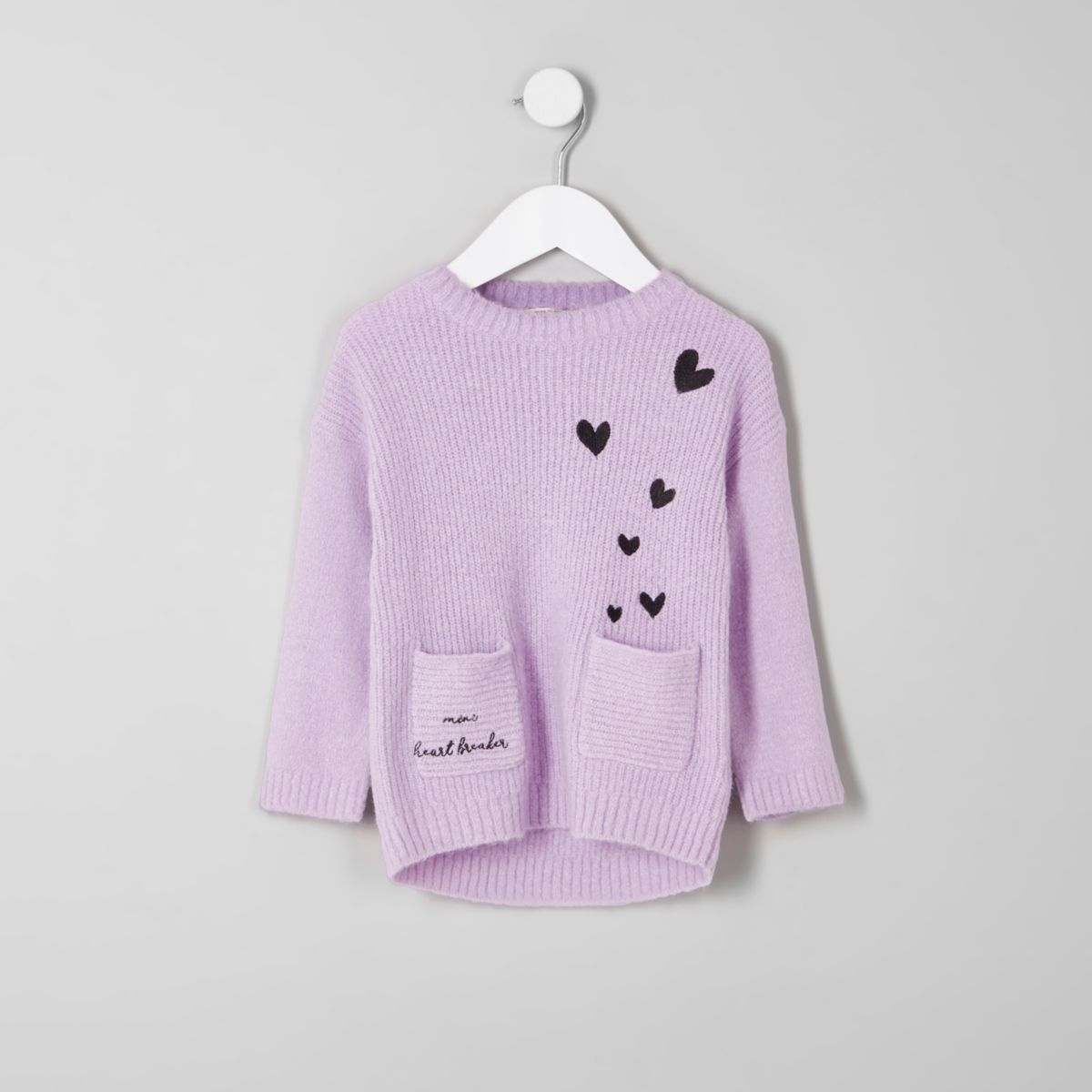 Mini girls 'mini heart breaker' knit sweater