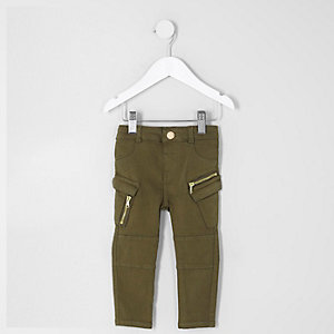 Mini - Kaki combat skinny jeans voor meisjes