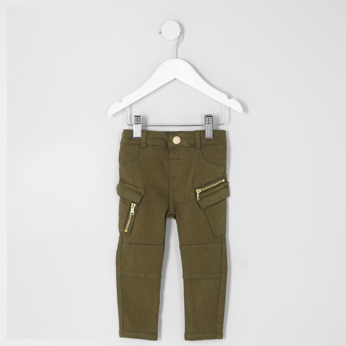 Mini girls khaki combat skinny jeans