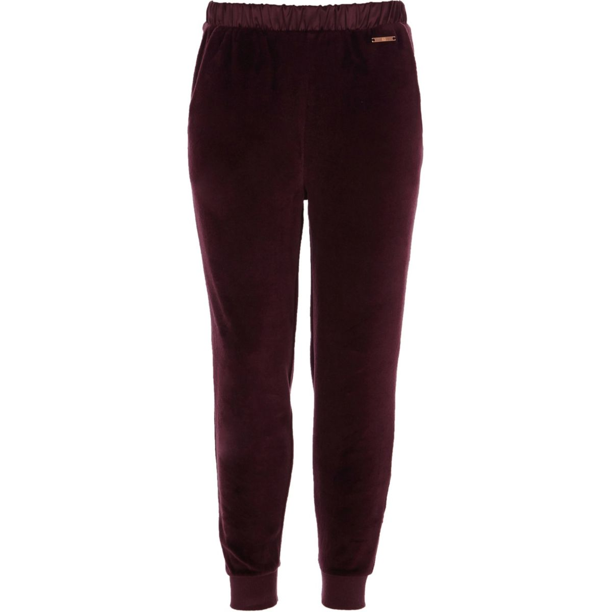 Girls purple velour joggers