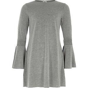 Grau meliertes Swing-Kleid