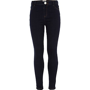 Girls dark blue Molly skinny fit jeggings