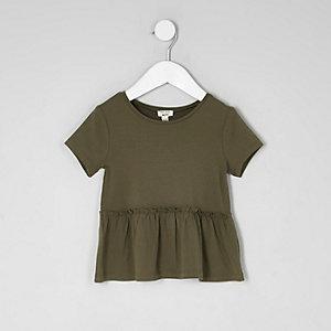 T-shirt péplum à manches courtes mini fille