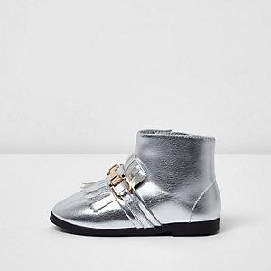 Mini - Zilverkleurige enkellaarsjes voor meisjes