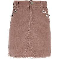 Roze corduroy rok met oogjes voor meisjes