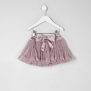 Mini girls lilac layered tutu skirt