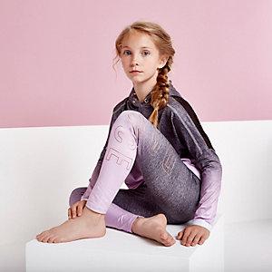 RI Active - Paarse met ombre legging met 'dance'-print voor meisjes