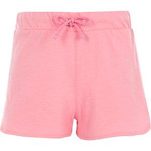 Roze short met gehaakte zoom voor meisjes